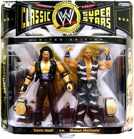 WWE Jakks Pacific Wrestling Classic Superstars Exclusive Action Figure 2-Pack Kevin Nash & Shawn Michaels