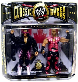 WWE Jakks Pacific Wrestling Classic Superstars Exclusive Action Figure 2-Pack Bret Hart & Shawn Michaels {Survivor Series '97} [Montreal Screwjob]
