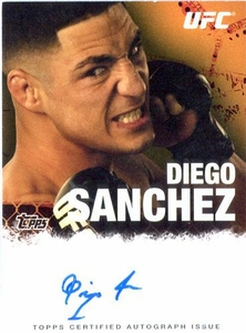 UFC Topps Ultimate Fighting Championship 2010 Championship Single Card Autograph Fighters & Personalities FA-DS Diego Sanchez