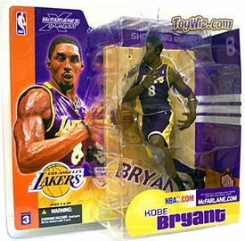 McFarlane Toys NBA Sports Picks Series 3 Action Figure Kobe Bryant (Los Angeles Lakers) Purple Jersey