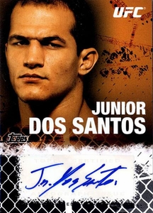 UFC Topps Ultimate Fighting Championship 2010 Championship Single Card Onyx Autograph Fighters & Personalities FA-JDS Junior Dos Santos 46/88