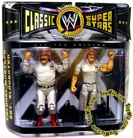 WWE Jakks Pacific Wrestling Classic Superstars Exclusive Series 4 Action Figure 2-Pack Sgt. Slaughter & Colonel Mustafa