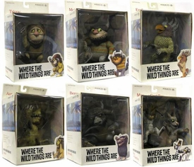 McFarlane Toys Where the Wild Things Are Action Figures Set of 6 Complete Rare Set!