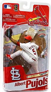 McFarlane Toys MLB Sports Picks Series 27 Action Figure Albert Pujols (St. Louis Cardinals) White Uniform