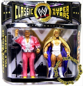 WWE Jakks Pacific Wrestling Classic Superstars Exclusive Series 4 Action Figure 2-Pack Hulk Hogan & Classy Freddie Blassie