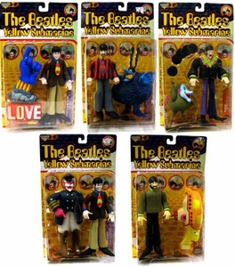 McFarlane Toys The Beatles Yellow Submarine Series 1 Set of 5 [1999 Original Packaging!] Complete Rare Set!