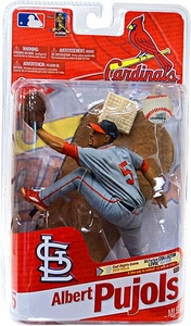 McFarlane Toys MLB Sports Picks Series 27 Action Figure Albert Pujols (St. Louis Cardinals) Gray Uniform Civil Rights Game 2010 Patch Silver Collector Level Chase Only 1,000 Made!