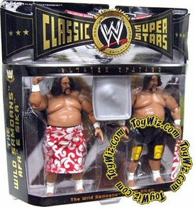 WWE Jakks Pacific Wrestling Classic Superstars Exclusive Series 3 Action Figure 2-Pack The Wild Samoans Afa & Sika