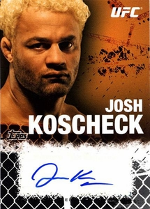 UFC Topps Ultimate Fighting Championship 2010 Championship Single Card Onyx Autograph Fighters & Personalities FA-JK Josh Koscheck