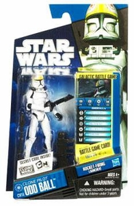 Star Wars 2010 Clone Wars Animated Action Figure CW No. 14 Clone Pilot Odd Ball