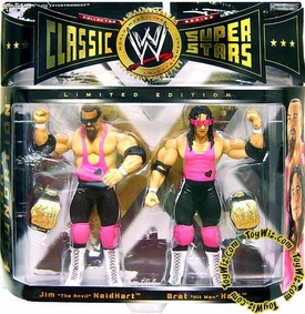 WWE Wrestling Classic Superstars Exclusive Series 1 Action Figure 2-Pack Bret Hart & Jim Neidhart [Hart Foundation]