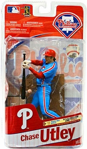 McFarlane Toys MLB Sports Picks Series 27 Action Figure Chase Utley (Philadelphia Phillies) Powder Blue Uniform Bronze Collector Level Chase Only 2,500 Made!
