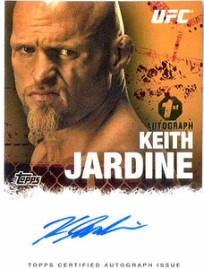 UFC Topps Ultimate Fighting Championship 2010 Championship Single Card Autograph Fighters & Personalities FA-KJ Keith Jardine 1st Autograph!