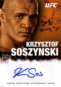 UFC Topps Ultimate Fighting Championship 2010 Championship Single Card Autograph Fighters & Personalities FA-KS Krzysztof Sosynski