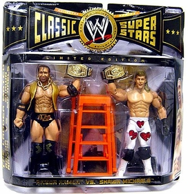 WWE Wrestling Classic Superstars Exclusive Ladder Match Action Figure 2-Pack Razor Ramone & Shawn Michaels