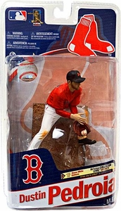 McFarlane Toys MLB Sports Picks Series 27 Action Figure Dustin Pedroia (Boston Red Sox) Red Jersey