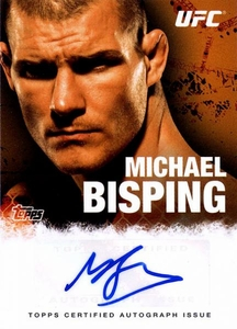 UFC Topps Ultimate Fighting Championship 2010 Championship Single Card Autograph Fighters & Personalities FA-MB Michael Bisping