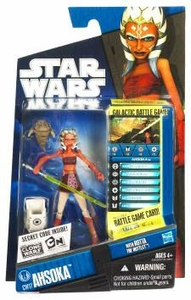 Star Wars 2010 Clone Wars Animated Action Figure CW No. 17 Ahsoka Tano with Rotta