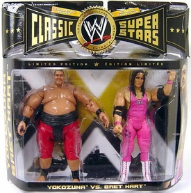 WWE Wrestling Classic Superstars Limited Edition Action Figure 2-Pack Yokozuna & Bret Hart
