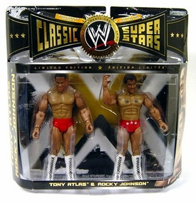 WWE Wrestling Classic Superstars Limited Edition Action Figure 2-Pack Tony Atlas & Rocky Johnson