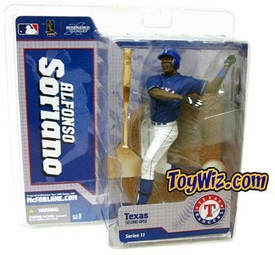 McFarlane Toys MLB Sports Picks Series 11 Action Figure Alfonso Soriano (Texas Rangers) Blue Jersey Chase Piece
