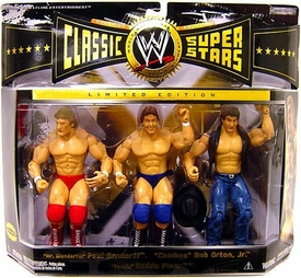 WWE Jakks Pacific Wrestling Classic Superstars Exclusive Series 6 Action Figure 3-Pack Rowdy Roddy Piper, Paul Orndorff & Bob Orton Jr.