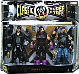 WWE Jakks Pacific Wrestling Classic Superstars Exclusive Series 3 Action Figure 3-Pack 3 Faces of The Undertaker