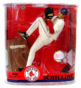 McFarlane Toys MLB Sports Picks Series 22 Action Figure Curt Schilling (Boston Red Sox)  Patch Variant
