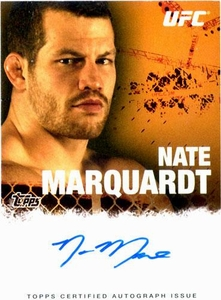 UFC Topps Ultimate Fighting Championship 2010 Championship Single Card Autograph Fighters & Personalities FA-NM Nate Marquardt