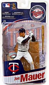 McFarlane Toys MLB Sports Picks Series 27 Action Figure Joe Mauer (Minnesota Twins) White Uniform With #7