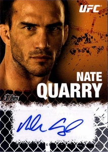 UFC Topps Ultimate Fighting Championship 2010 Championship Single Card Onyx Autograph Fighters & Personalities FA-NQ Nate Quarry 18/88