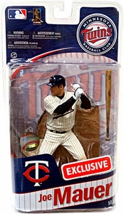 McFarlane Toys MLB Sports Picks Series 27 Exclusive Action Figure Joe Mauer (Minnesota Twins) Alternate White Home Uniform