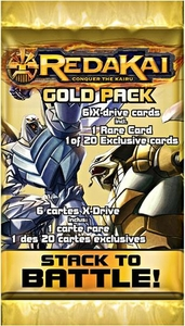 Redakai Card Game GOLD Booster Pack [6 Cards]