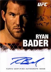 UFC Topps Ultimate Fighting Championship 2010 Championship Single Card Autograph Fighters & Personalities FA-RB Ryan Bader