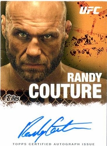 UFC Topps Ultimate Fighting Championship 2010 Championship Single Card Autograph Fighters & Personalities FA-RC Randy Couture