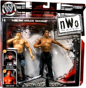 WWE Jakks Pacific Wrestling n.W.o New World Order Action Figure 2-Pack Hulk Hogan vs. the Rock [Icon vs. Icon]