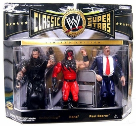 WWE Jakks Pacific Wrestling Classic Superstars Exclusive Series 7 Action Figure 3-Pack Undertaker, Kane & Paul Bearer