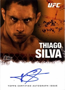 UFC Topps Ultimate Fighting Championship 2010 Championship Single Card Autograph Fighters & Personalities FA-TS Thiago Silva