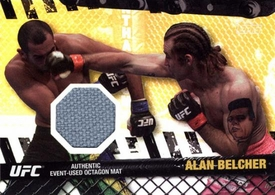 UFC Topps Ultimate Fighting Championship 2010 Championship Single Card Gold Fight Mat Relic FM-AB Alan Belcher 56/188