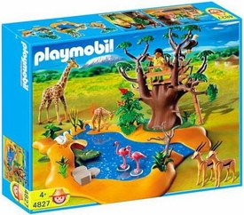 Playmobil Zoo Animal Clinic Set #4827 Wild Life Waterhole