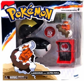 Pokemon TOMY Catch 'n' Return Poke Ball Landorus & Ultra Ball