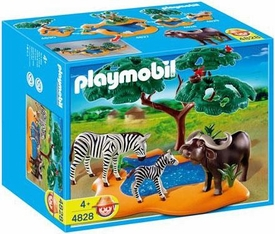Playmobil Zoo Animal Clinic Set #4828 Buffaloes with Zebras