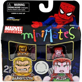 Marvel MiniMates Exclusive Mini Figure 2-Pack Sabretooth & Blink [Age of Apocalypse]