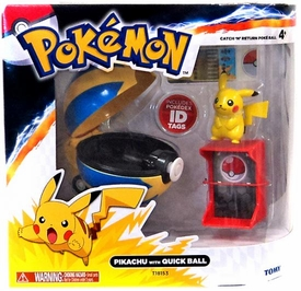 Pokemon TOMY Catch 'n' Return Poke Ball Pikachu & Quick Ball