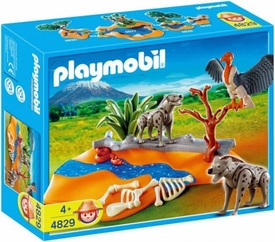 Playmobil Zoo Animal Clinic Set #4829 Hyenas