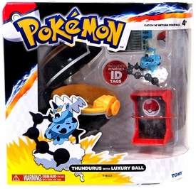 Pokemon TOMY Catch 'n' Return Poke Ball Thundurus & Luxury Ball
