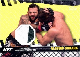 UFC Topps Ultimate Fighting Championship 2010 Championship Single Card Fight Mat Relic FM-AS Alessio Sakara BLOWOUT SALE!