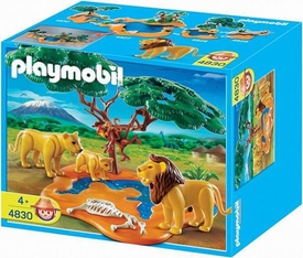 Playmobil Zoo Animal Clinic Set #4830 Lion Pride with Monkeys