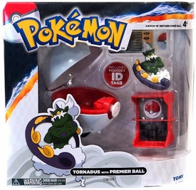 Pokemon TOMY Catch 'n' Return Poke Ball Tornadus & Premier Ball