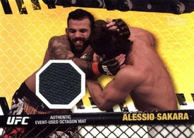 UFC Topps Ultimate Fighting Championship 2010 Championship Single Card Gold Fight Mat Relic FM-AS Alessio Sakara 151/188